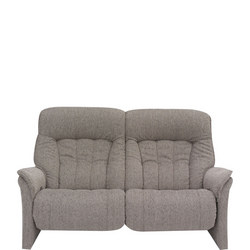 Rhine Two-Seater Sofa With Power Recliner Aqua Almond