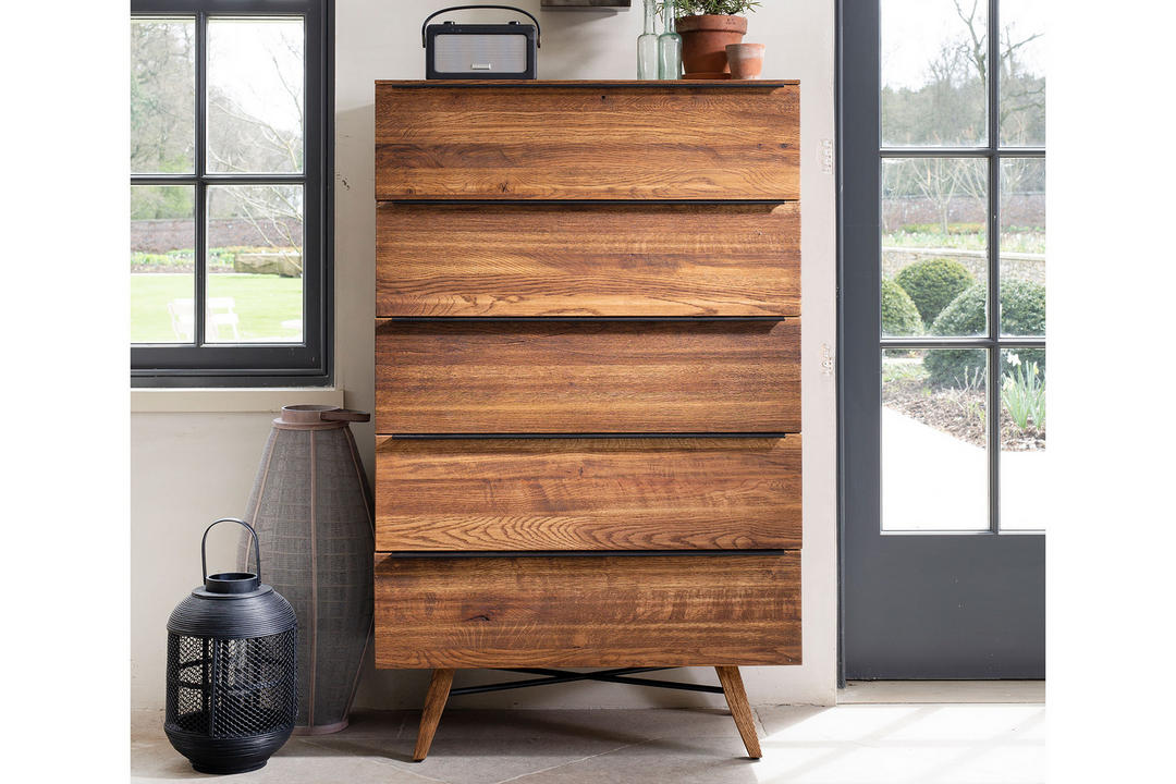 Rimini Five Drawer Tall Chest