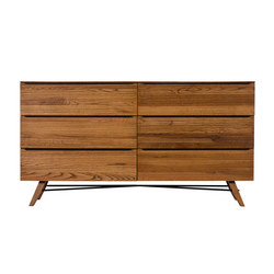 Rimini Six Drawer Wide Chest