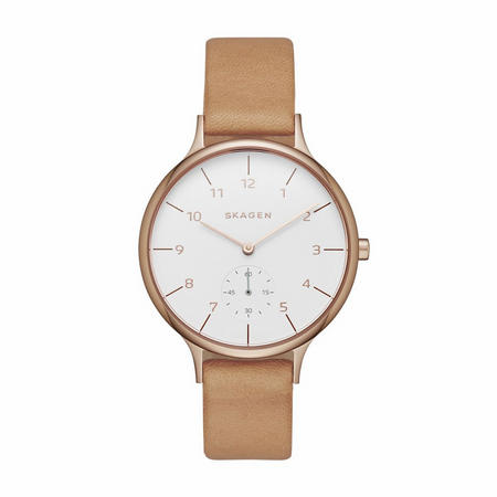 Ladies Anita Watch White & Gold