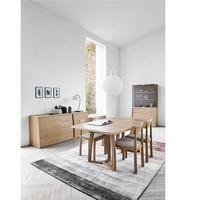 SM22 Oak Oil Veneer Dining Table