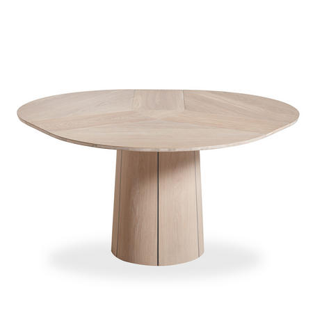 SM33 Oak White Oil Dining Table