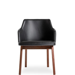 SM65 Cherry And Dark Brown 5004 Leather Dining Chair