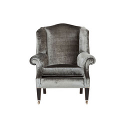 Somerset Wing Chair, Louvain Slate