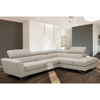 Sparta Large Corner Group LAF Sofa With RAF Chaise Torello Bianco