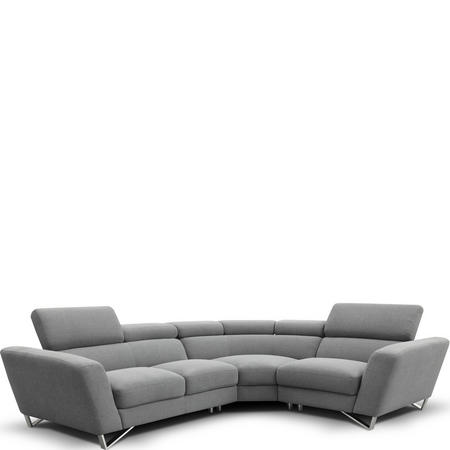 Sparta Large Corner Group RAF Sofa With LAF Chaise Torello Bianco