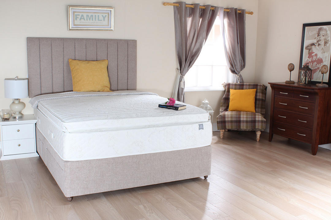 Superior Rest Luxury 2 Drawer Set+B Swatch Std P/T Divan Base