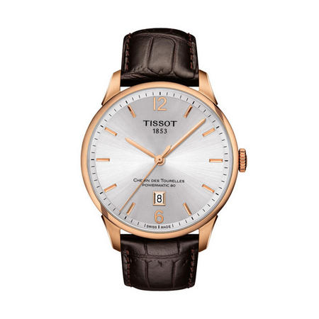 Chemin Des Tourelles Powermatic 80 Watch Brown/Gold