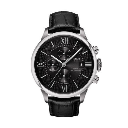 Chemin Des Tourelles Automatic Chronograph Watch Black