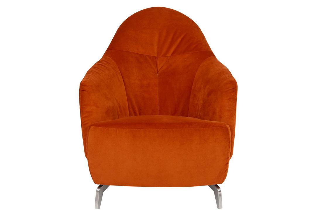Tango King Chair, Velluti Orange
