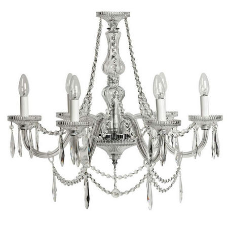 Eva Chandelier 6 Arm Clear