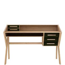 Origami 45055 Five-Drawer Desk Black