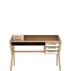 Origami 45056 Five-Drawer Desk Cream