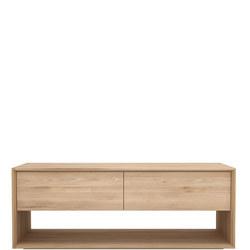 Nordic 51439 120cm TV Cupboard 1 Door +1 Drawer Oak