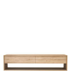Nordic 51440 180cm TV Cupboard 1 Door +1 Drawer Oak