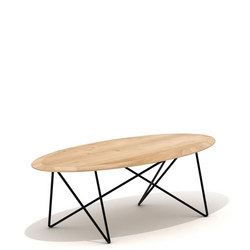Orb 26686 Coffee Table Oak and Black
