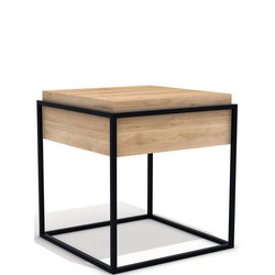 Monolit 26865 Small Side Table with Removable Cover Black