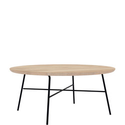 Disc 26607 Round Coffee Table Oak and Black