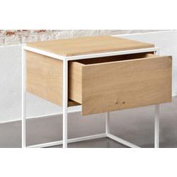 Monolit 26868 1 Drawer Table White