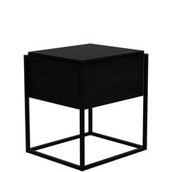 Monolit 26870 1 Drawer Table Black Oak