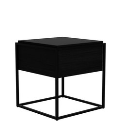Monolit 26875 Medium Side Table with Removable Cover Black Oak