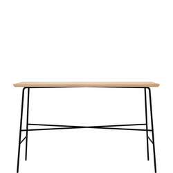 Disc 26611 Console Table Oak and Black