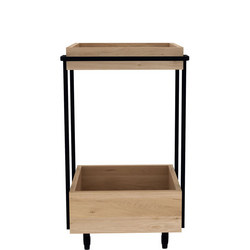 Kompagnon 27100 Bar Cart Oak and Black