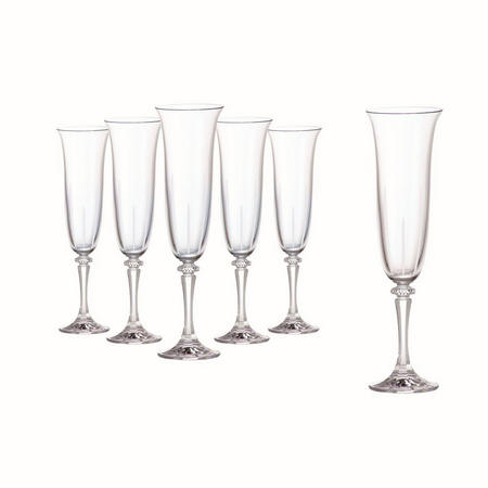 Tranquillity Set Of 6 Flutes In Hat Box