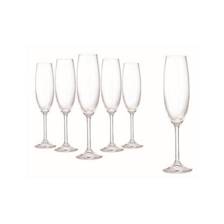 Connoisseur Set Of 6 Champagne Flute 220Ml