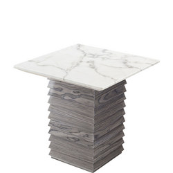 Tivoli Lamp Table White Marble+Grey Lacquer TIV6266