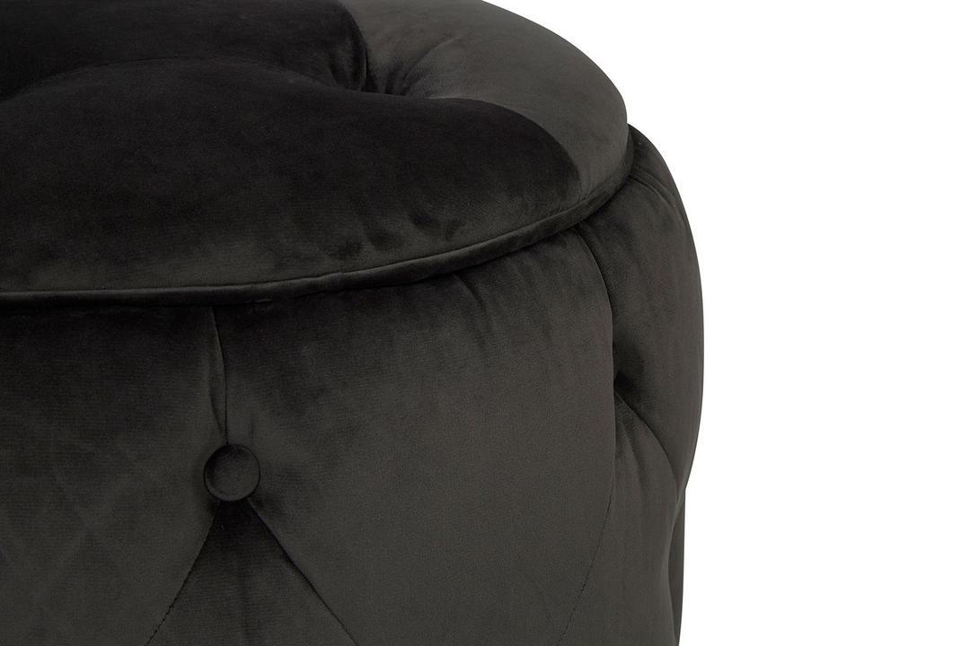 Trixie Footstool Plush Velvet Asphalt