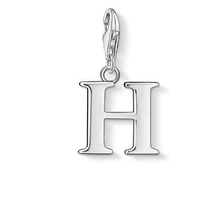 H Charm Silver