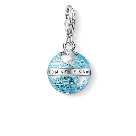 Globe Charm Silver