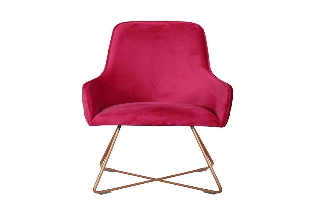 Utah Upholstered Chair Plush Cadillac+Copper Legs