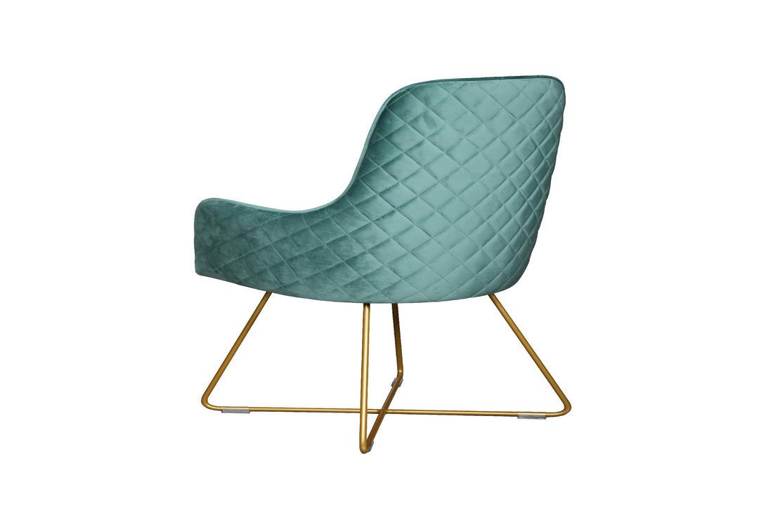 Utah Upholstered Chair Duck Egg + Gold Legs