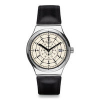 Sistem Soul Leather Watch Black