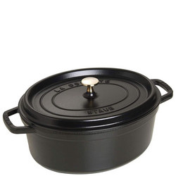 Oval Cocotte Black 31CM