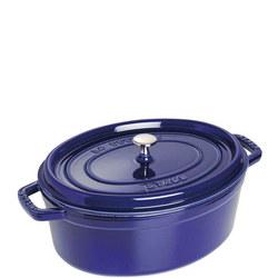 Oval Cocotte Blue 31CM