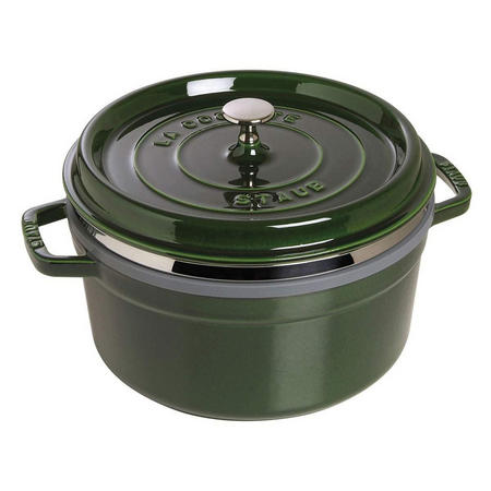 Round Cocotte With Steamer Insert Basil 26CM