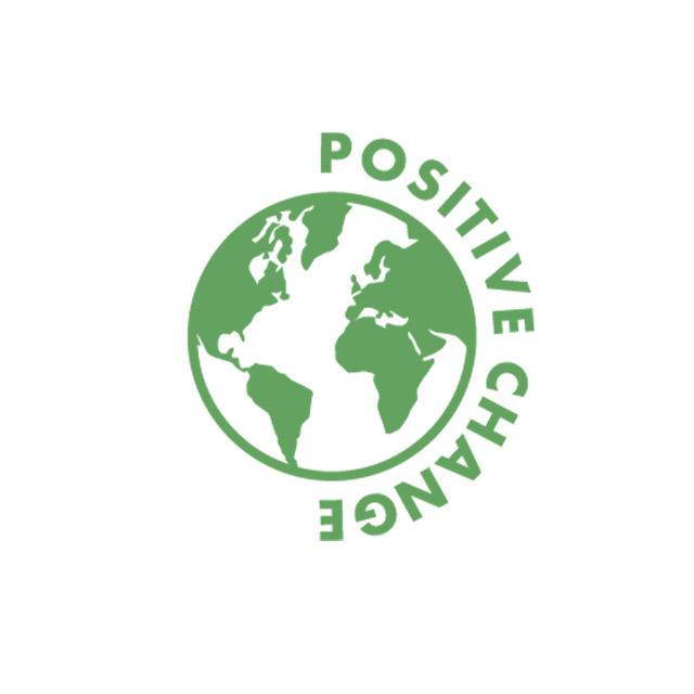 positive change word orbiting the globe