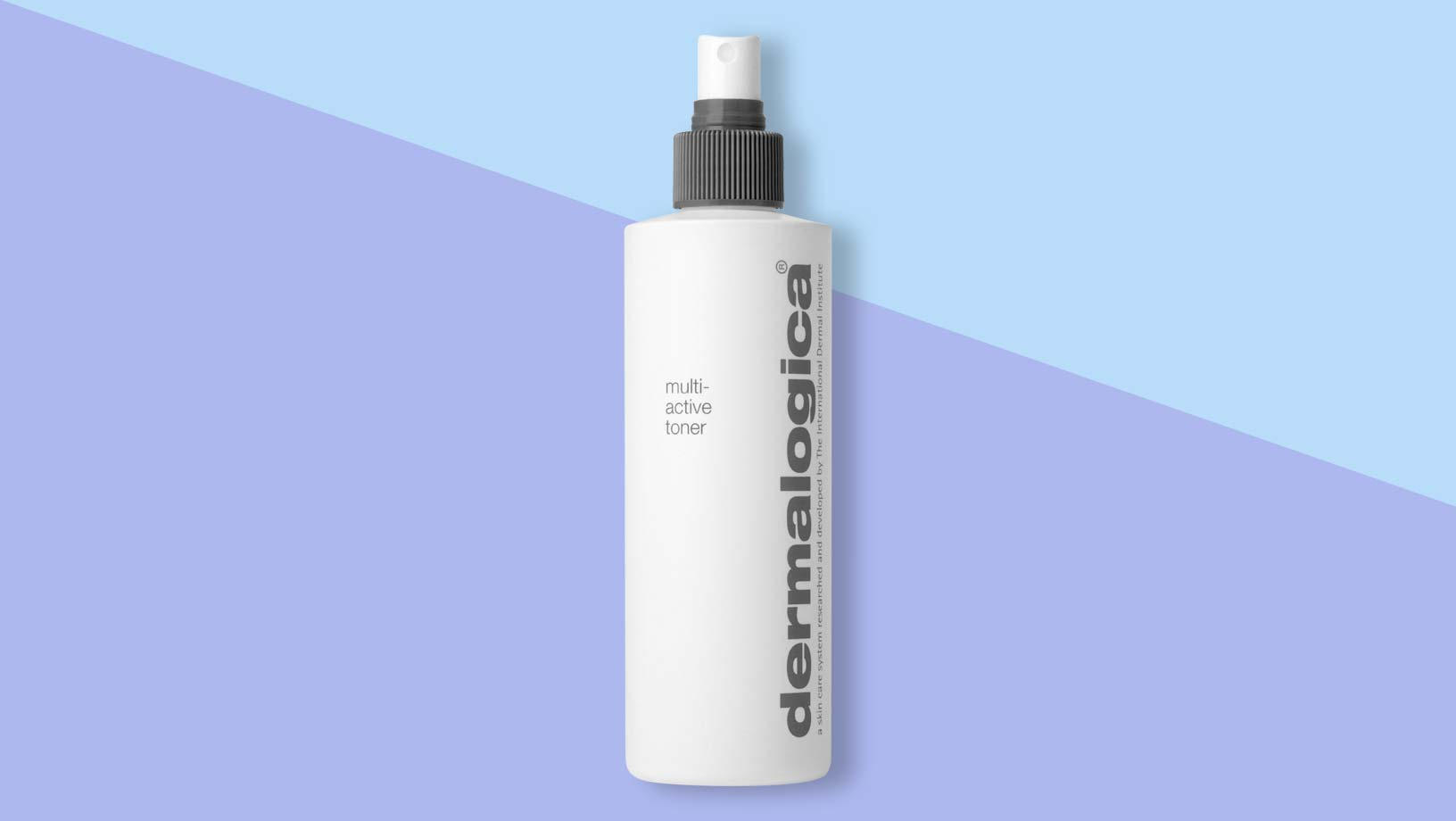 Dermalogica Multi-Active Toner staning on a blue and purple background