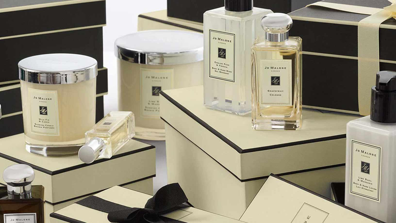 Jo Malone London candles, perfume and lotions
