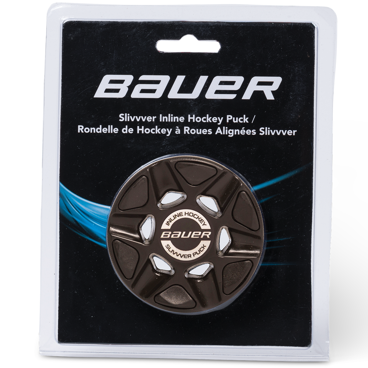 BAUER RH SLIVVVER PUCK (SINGLE PACKAGED),BLK,moyen