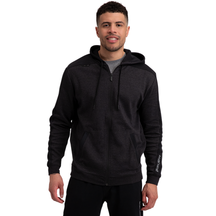 Premium Fleece Full Zip Hoody - Charcoal,,moyen