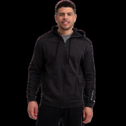 Premium Fleece Full Zip Hoody - Charcoal,,medium