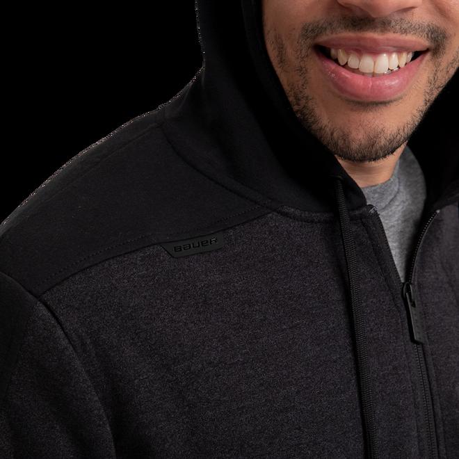 Premium Fleece Full Zip Hoody - Charcoal