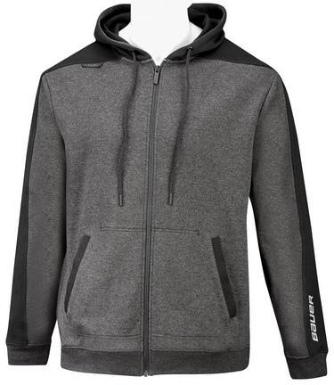 Premium Fleece-Kapuzenjacke mit Reißverschluss,SCHWARZ ANTHRAZIT,Medium