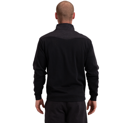 Premium 1/4 Zip Fleece Senior - Black,,moyen