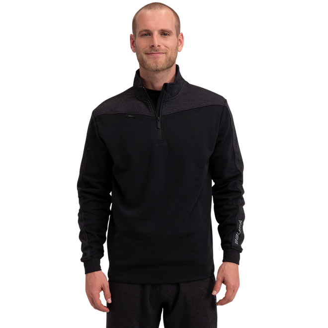 Premium 1/4 Zip Fleece Senior - Black