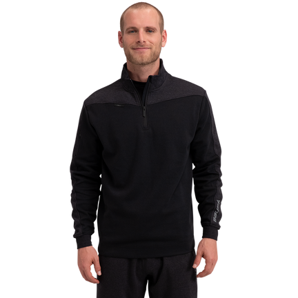 Premium 1/4 Zip Fleece Senior - Black,,medium